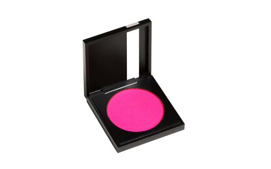 """Wear bright eyeshadow:<a href=""""http://Sephora.com"""" target=""""_blank"""">Makeup Forever Neon Pink #75Eyeshadow</a>($20.00)"""