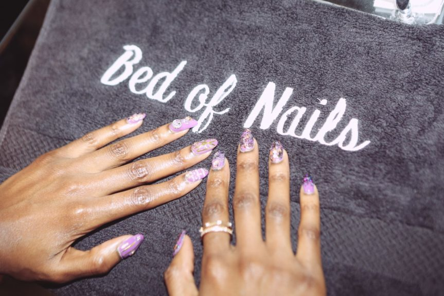 Unique nail art is one of the premium services Bed of Nails offers
