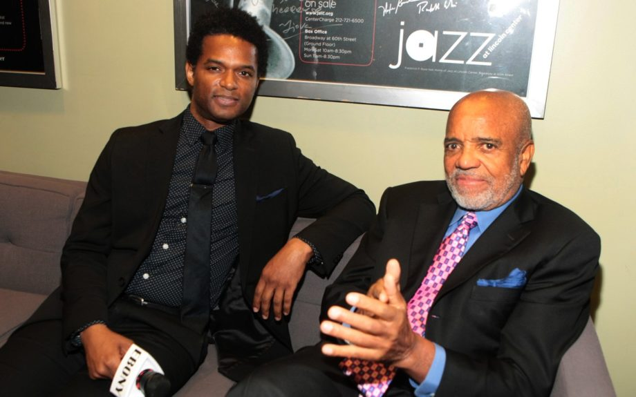 EBONY.com arts-culture editor Miles Marshall Lewis with Motown founder Berry Gordy