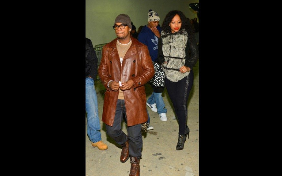 Monyetta Shaw joined her fiancé Ne-Yo at Compound Nightclub in Atlanta for T.I.'s Album release party sporting close fit pants, booties, and a Helmut Lang for Intermix Flux Fur Jacket. Photo Credit: Prince William