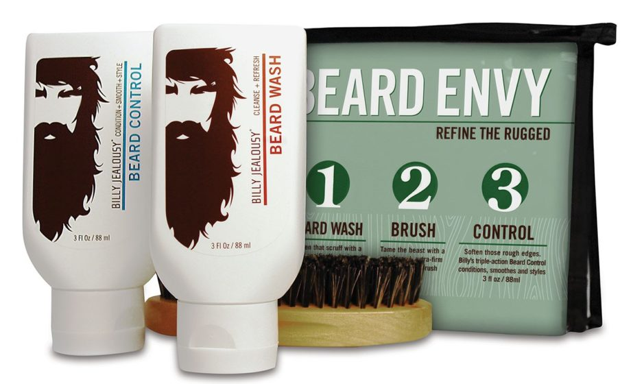 <p> <strong>Wash</strong> - A sulfate-free shampoo will keep your beard clean without irritating skin. Billy Jealousy Beard Envy Beard Refining Kit ($25, billyjealousy.com)</p> <p> </p>