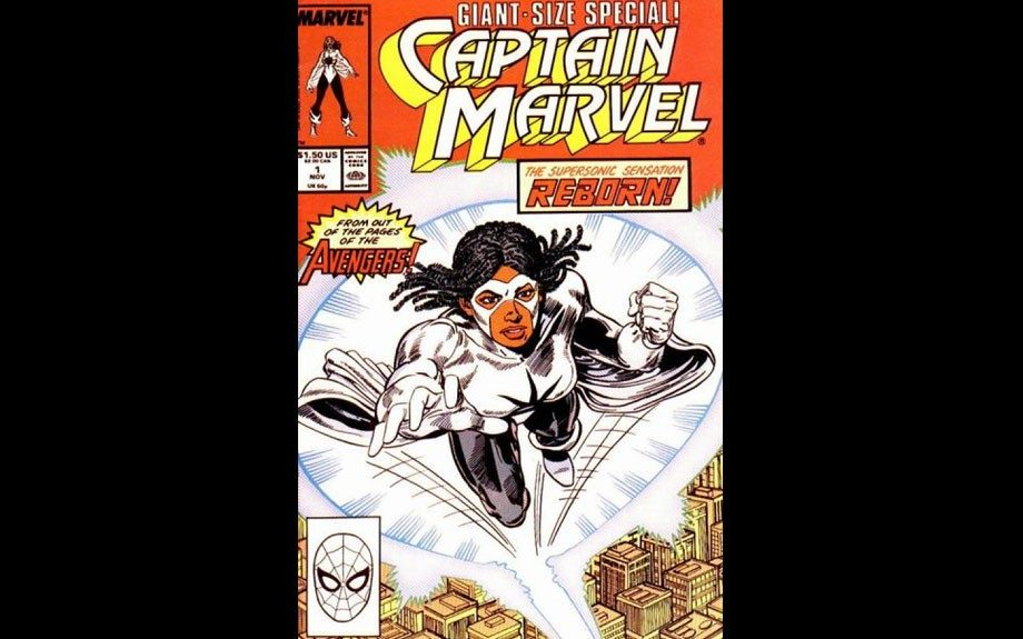Captain Marvel can convert her body into any form of energy in the electromagnetic spectrum. Pretty powerful sister.