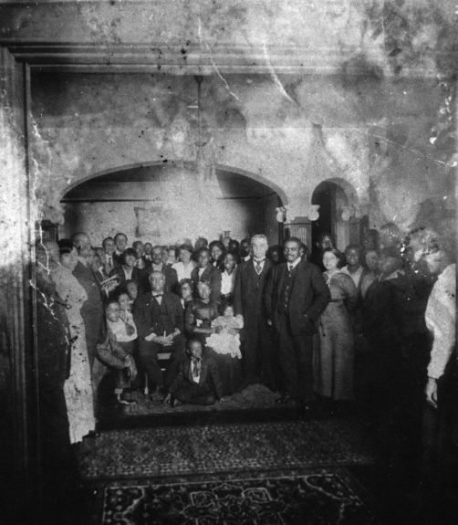 R.H. Boyd at home with Family and friends, 1915