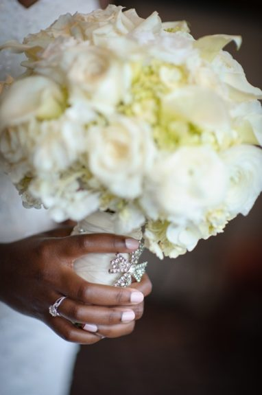 The bouquet that completed the brides lovely look.