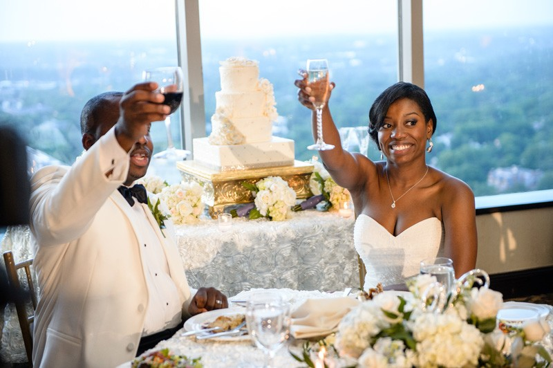 Raise a glass to the newlyweds.