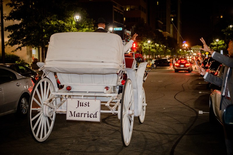 Just married, but forever in love.