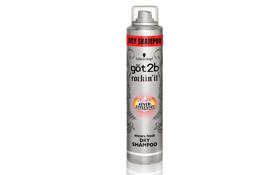 """Every woman should have a great dry shampoo—it gets rid of unwanted oils, keeps hair fresh and clean in-between washes."" Got2B Rockin' It Dry Shampoo ($5.99; drugstore.com)"