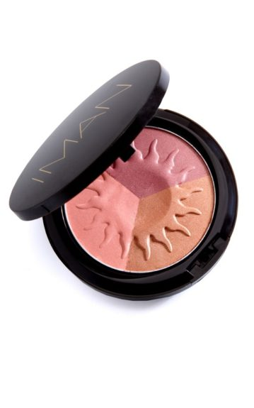 """The Ultimate Multi-tasker: """" You can use each color individually or you can swirl them together for a beautiful sheen."""" IMAN Cosmetics Sheer Finish Bronzing Powder in Afterglow ($16, drugstore.com)"""