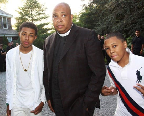 Reverend Run sons, Diggy and Russy (missing Jojo)