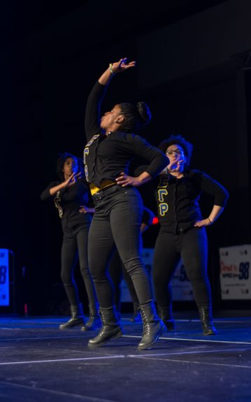 <p> The sisters of Sigma Gamma Rho performed during the McDonald's CIAA Stepshow Throwdown</p>