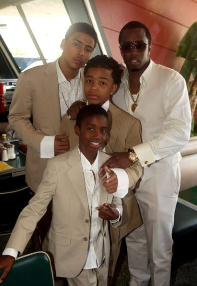 P. Diddy and sons Justin, Christian and Quincy