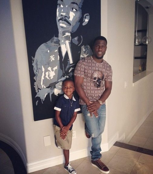 Kevin Hart and son, Hendrix