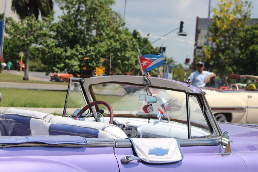 Old colorful convertibles are a symbol of Cuba's national pride.