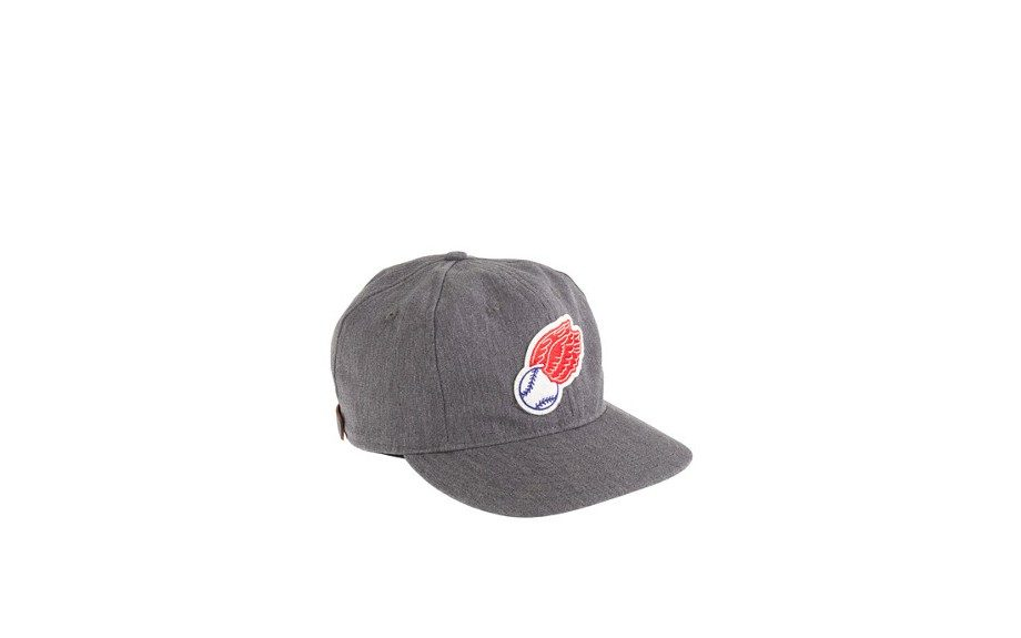 J. Crew's cap gives you wings, in a solid neutral color like this with a leather strap for adjusting. Rochester Red Wings Ball Cap by J.Crew ($49.50,