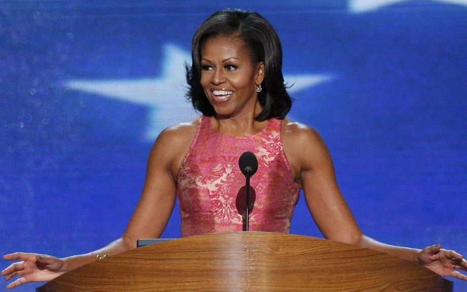 Michelle is ready for Election 2012 as she speaks at the 2012 DNC