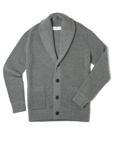 "Everlane Chunky Knit Cardigan, $135, <a href=""https://www.everlane.com/collections/mens-sweaters/products/mens-chunky-knit-dark-grey"">www.everlane.com</a>"