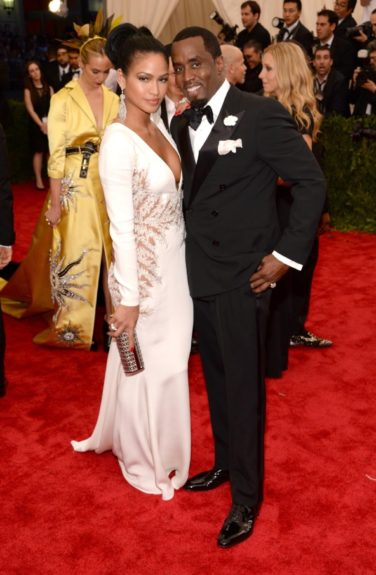 Sean Combs and Cassie Ventura at the 2015 Met Costume Institute Gala