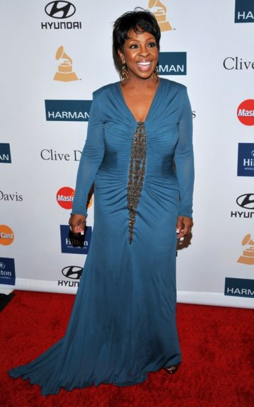 Gladys Knight arrives at the Pre-GRAMMY Gala & Salute to Industry Icons with Clive Davis honoring Richard Branson, Saturday, Feb. 11, 2012, in Beverly Hills, Calif. (AP Photo/Vince Bucci)