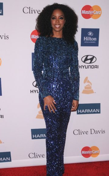 Kelly Rowland arrives at the Clive Davis And The Recording Academy's 2012 Pre-GRAMMY Gala And Salute To Industry Icons Honoring Richard Branson at the Beverly Hilton hotel. (Photo by Scott Kirkland/PictureGroup)