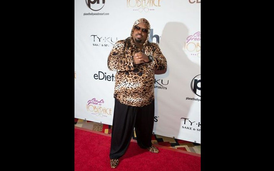 We expect nothing less than extraordinary from Ceelo Green who rocks a leopard stretch hoodie, black pant, and leopard loafers, in Vegas. Photo Credit: WireImage