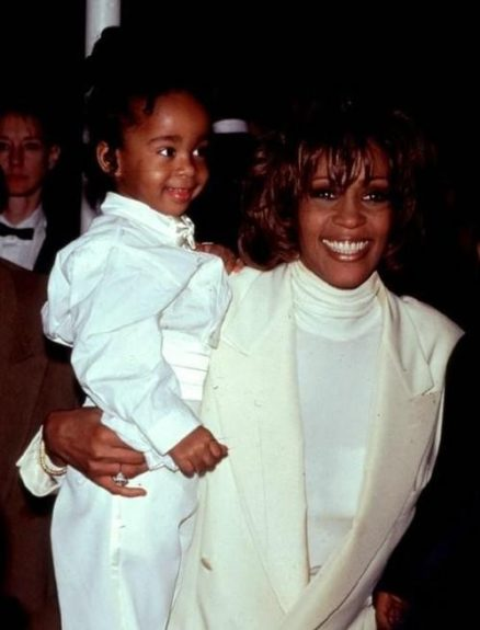 Whitney with Bobbi as a young child.