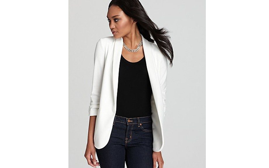 The 'Aqua' Blazer: This three quarter sleeved blazer gives you a perfectly polished work look. ($88.00; Bloomingdales.com)