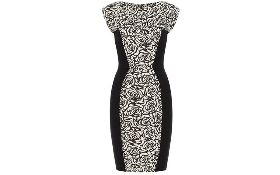 Dorothy Perkins Black and White Rose Dress ($75, dorothyperkins.com)