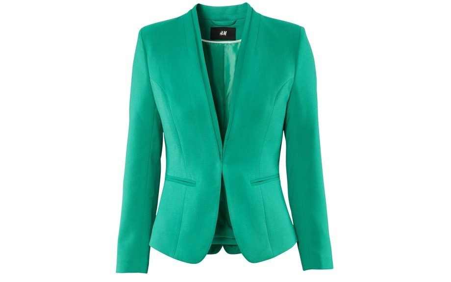 Blazer: This eye-catching blazer can easily transition from the office to a night on the town. ($49.95; www.hm.com)
