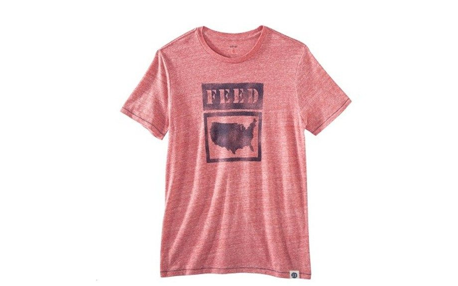 "FEED for Target Men's Short Sleeve Tee ($15, <a href=""http://www.target.com/p/feed-for-target-men-s-short-sleeve-tee-red/-/A-14501289#prodSlot=medium_1_2"">target.com</a>) <div> 	 </div>"