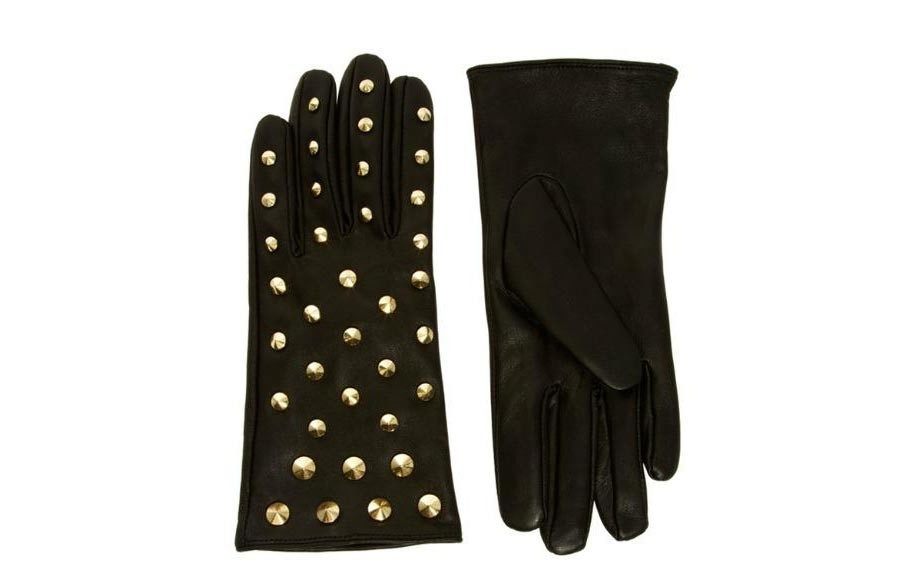ASOS Leather All Over Stud Gloves ($38.59, asos.com)