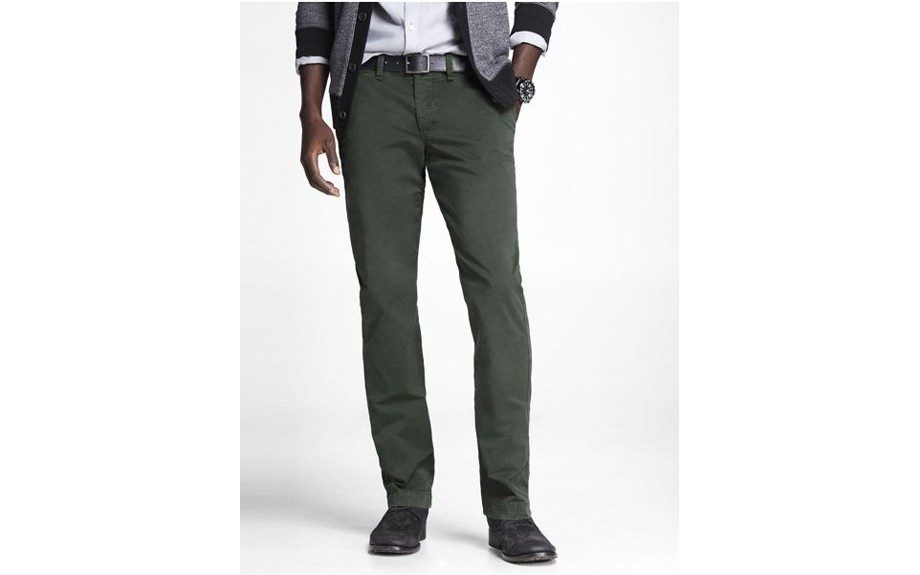 For the Laid Back Guy: Express Colored Chino Photographer Pant ($69, express.com)