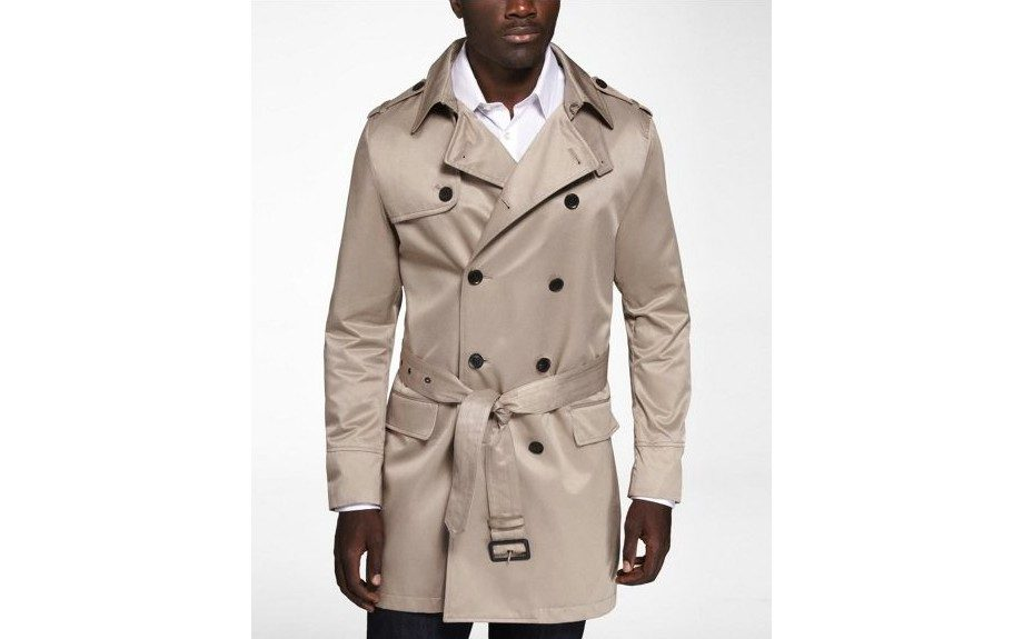 For the Gentleman: Express Coated Canvas Trench Coat ($198, express.com)