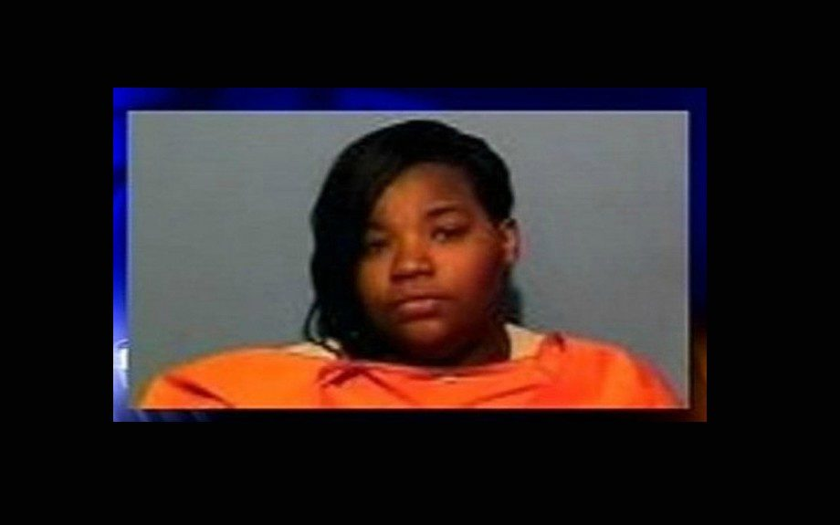 Tenant Chelsea Harris of Arkansas was arrested for sitting on her landlord son's head after he demanded back rent.
