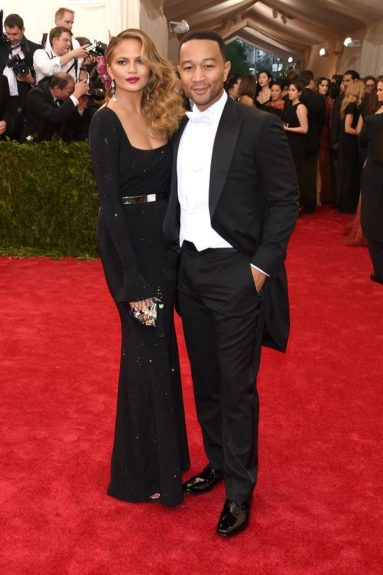John Legend (w/wife Chrissy Teigen) at the 2015 Met Costume Institute Gala