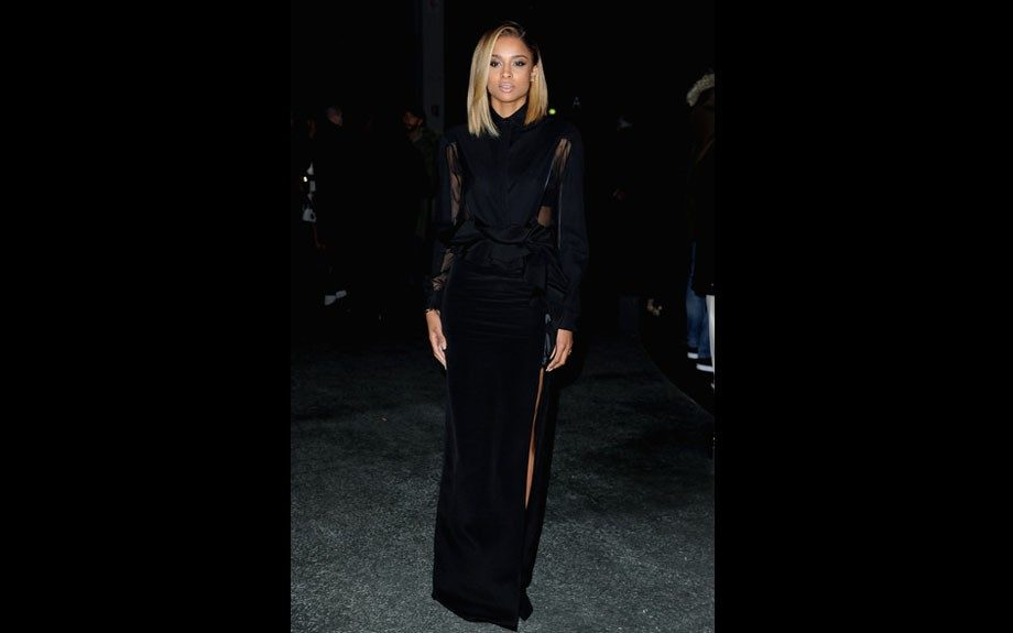 Ciara usually does sexy, or tomboy…sometimes both but in this Ricardo Tisci gown she for sure went the sexy route. Photo Credit: INF