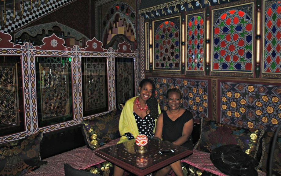 Inside a Moroccan-style teahouse in Granada