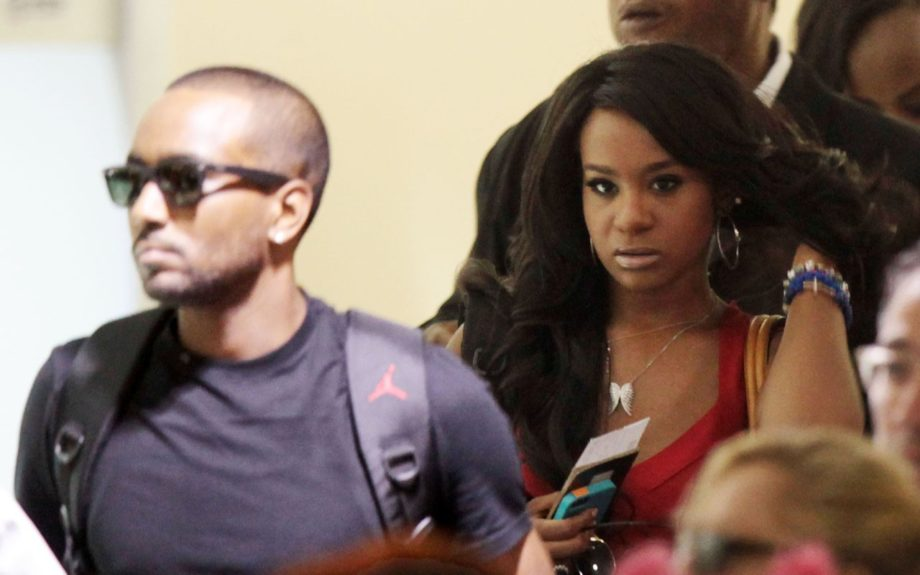 Bobbi Kristina Brown and Nick Gordon arrive at LAX airport to catch a flight.