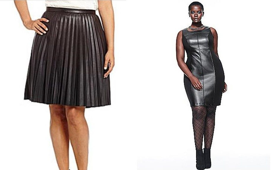 "<strong>Leather</strong>: Calvin Klein Faux Leather Pleated Skirt <a href=""http://www.dillards.com/product/Calvin-Klein-Woman-Pleated-FauxLeather-Skirt_301_-1_301_504752660?df=04281833_zi_black&categoryId=410&scrollTop=1200"" target=""_blank"">$119.50</a>; Sheath Dress <a hr"