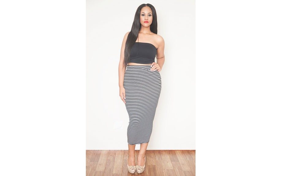 "<strong>Sexy, long pencil skirts: </strong>Rebdolls Striped Pencil Midi Skirt <a href=""http://rebdolls.com/product/plus-size-striped-body-conscious-midi-skirt/"" target=""_blank"">$29.99</a>"