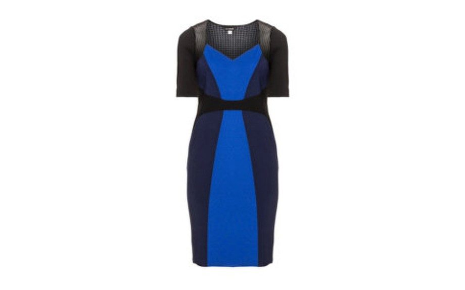 "<strong>LOOK TWO: </strong>Anna Scholz Colorblocked Dress <a href=""http://www.navabi.us/dresses-anna-scholz-colour-block-dress-black-blue-21518-2402.html"" target=""_blank"">$493</a>"