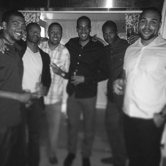 MBA graduation party from IE business school (Madrid, Spain); Jamar partied with friends in Dubai