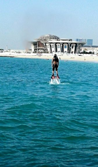 Flyboarding in the Arabian Gulf, the closest thing to walking on water