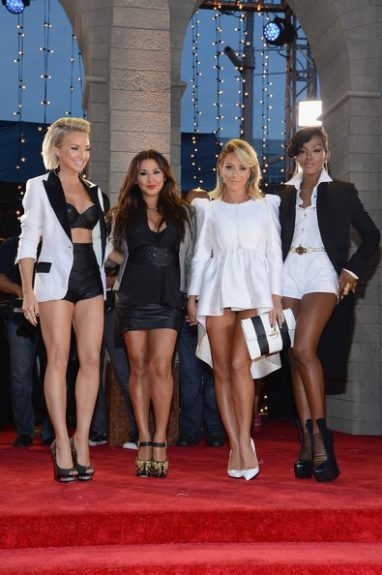 Danity Kane officially announced they are back in action together (minus former member D Woods), and their sexy white and black numbers showed great cohesiveness while still letting their individual styles shine through. Photo Credit: Getty