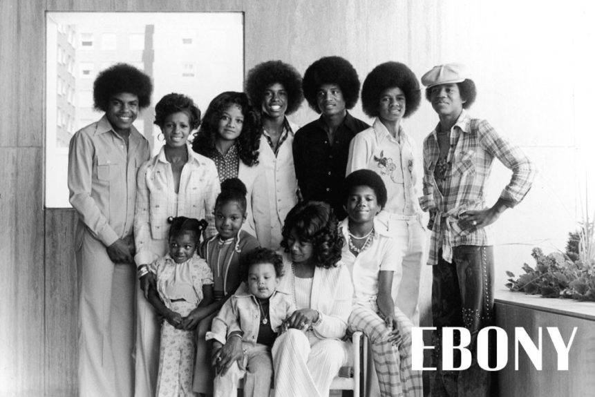 """Portrait of the Jackson Family circa 1975. Shop the entire EBONY Collection<strong><a href=""""http://www.ebony.com/store#axzz2PsEj7sec"""" target=""""_blank"""">here</a></strong>."""