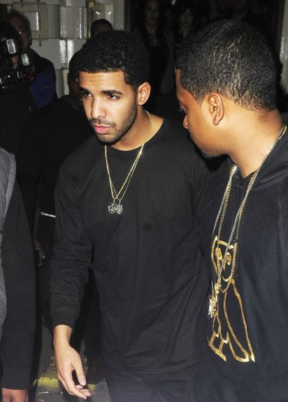 March 27, 2012: Drake attending his after-party at Low Club in Mayfair, following his concert at the O2 in London, UK.