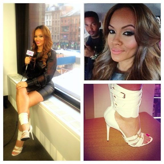 Sleek and sexy sums up Evelyn Lozada's style. Seen in a black Helmut Lang mini-dress with mesh cutouts and leather trim, this is only one of our favorite looks against the Latina beauty's dangerous curves.