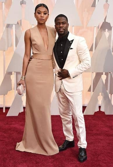 Kevin Hart and Eniko Parrish, arriving at the87thannual Academy Awards in the DolbyTheatrein Hollywood