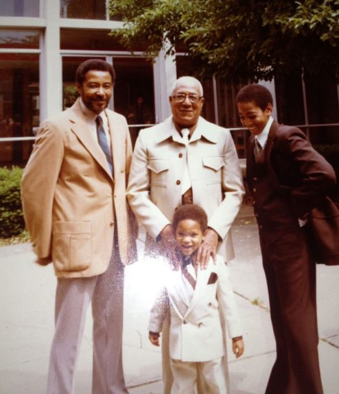 Ken T. Williams; his dad Ted Williams; his son Ken E. Williams; and grandson Keon Gregory (the son of his daughter, Lugenia Gregory).