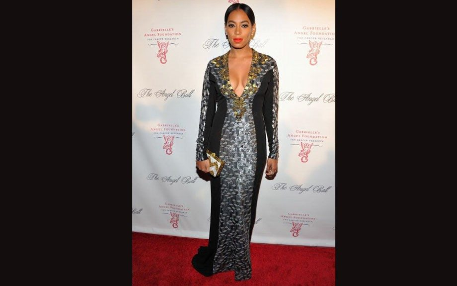 Solange Knowles was gorgeous in her Badgley MischkaFall 2012 gown.