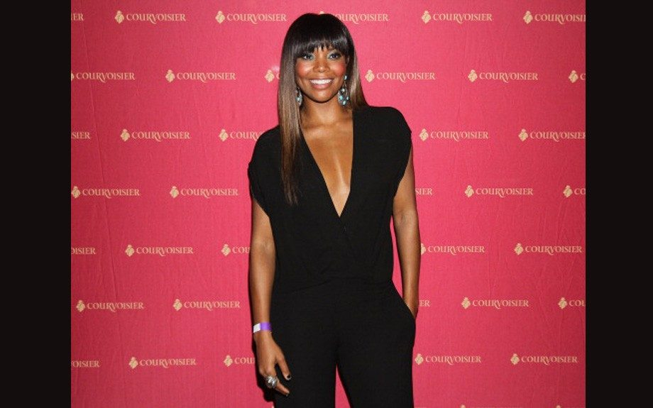 Gabrielle Union celebrated her birthday in a jumpsuit from 5th and Mercer, which is her friend Lala Anthony's clothing line.